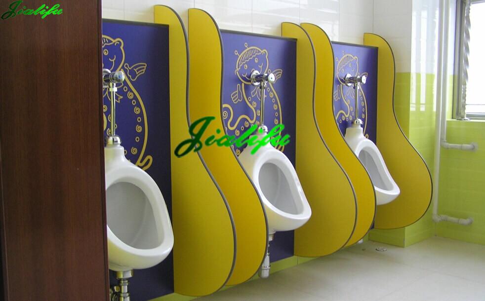Waterproof Solid Grade Laminate Men\'s Urinals Toilet Partition ...