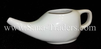 Himalayan Natural Crystal Rock Salt Neti Pot / Rock Salt Neti Pot / Ceramic Neti Pot in Different Colors / Neti Pot / Himalayan