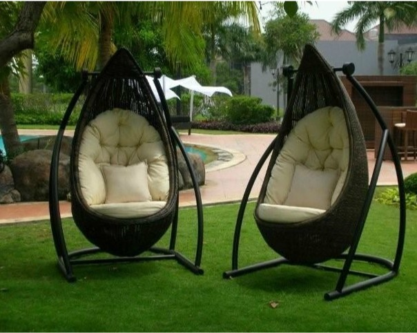 Wicker Swing Chair Garden Swing Chair Chairs Hanging Egg Chair