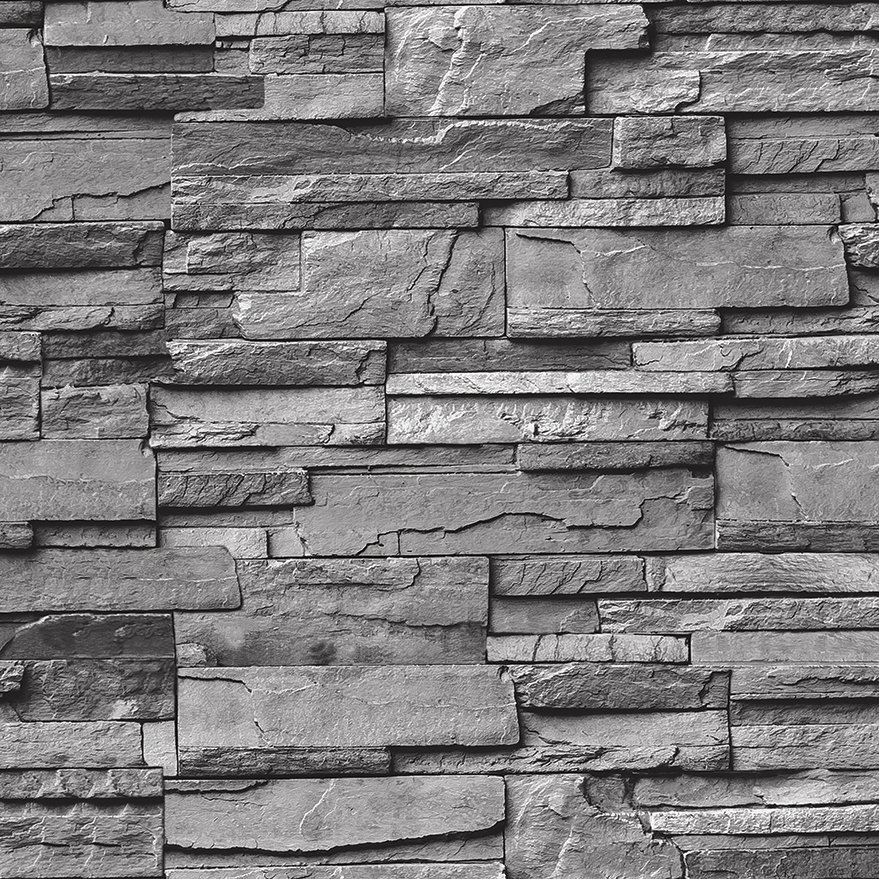 Brick wallpaper vinly wallpaper 3d wall paper korean for Black 3d brick wallpaper