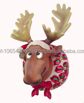 Moose Wall Decor funny christmas moose head wall decor. id: 2260 - buy christmas