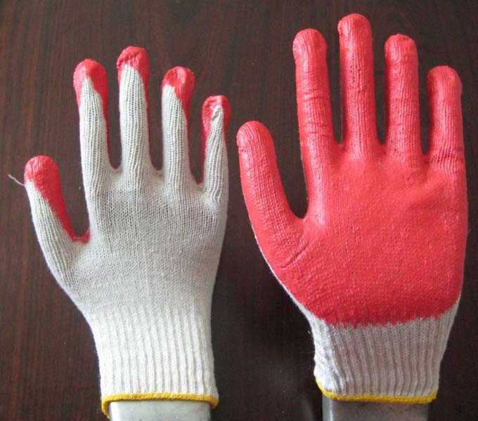 Rubber Palm Coated Cotton Hand Gloves Buy