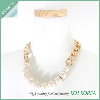 Kr-563 Pearl Bold Necklace Jewelry Hot Sale