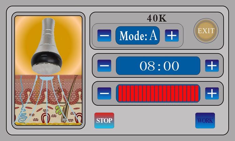 portable 5 in 1 40k ultrasonic cavitation multipolar bipolar rf machine