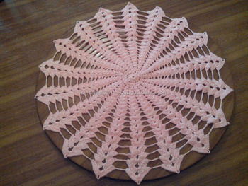 Crochet Table Covermat Home Decor Table Decor Side Bed Mat Beding