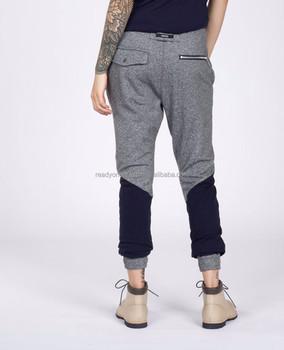 19c1364ad Custom branded zipper bottoms jogger fit elastic waist men denim pants  -Military Olive