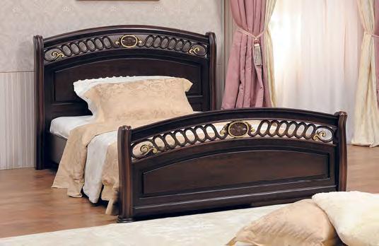 Vivaldi Camera Da Letto Noce Con Finitura Oro(bed 1 ° 8 + 2 Notti ...
