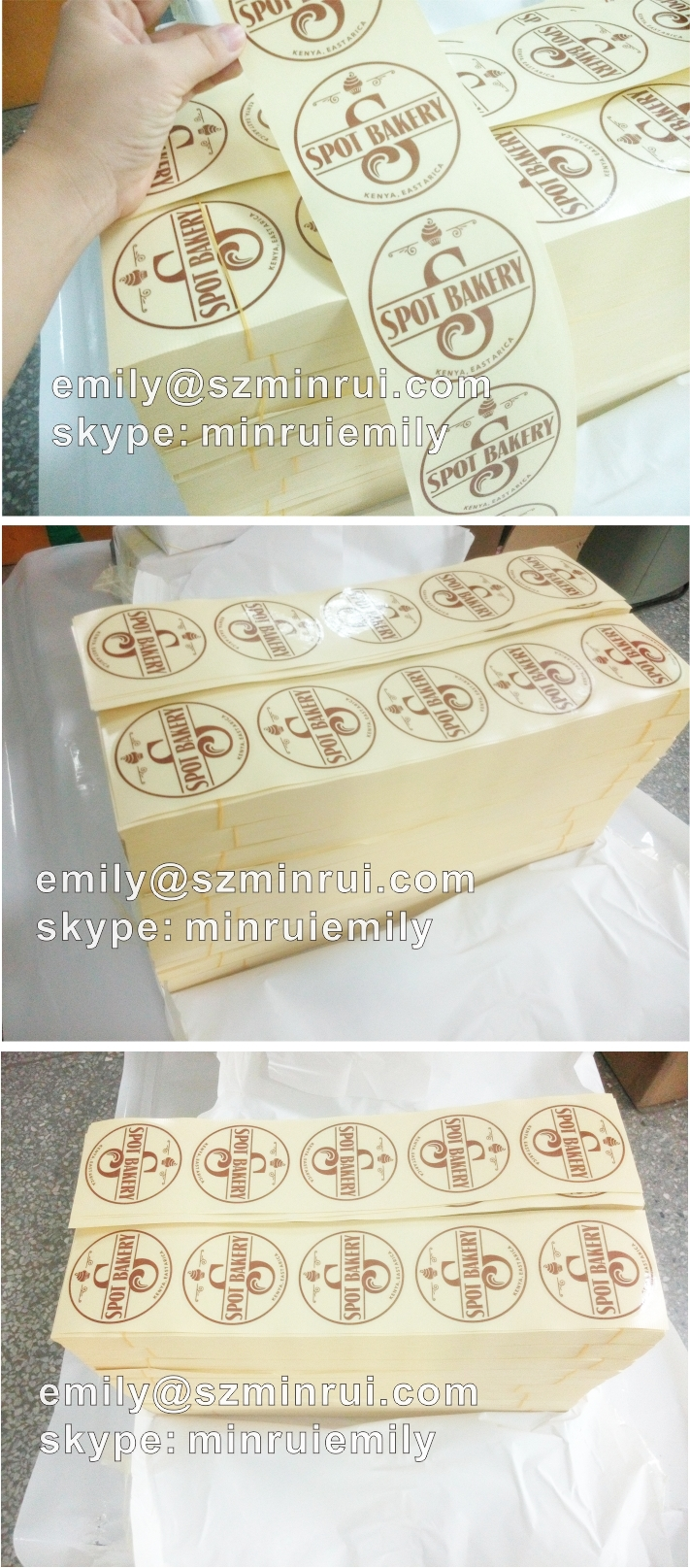 printing labels custom stickers Wedding Stickers printed LOGO transparent  clear adhesive round label Sticker Gift Tags