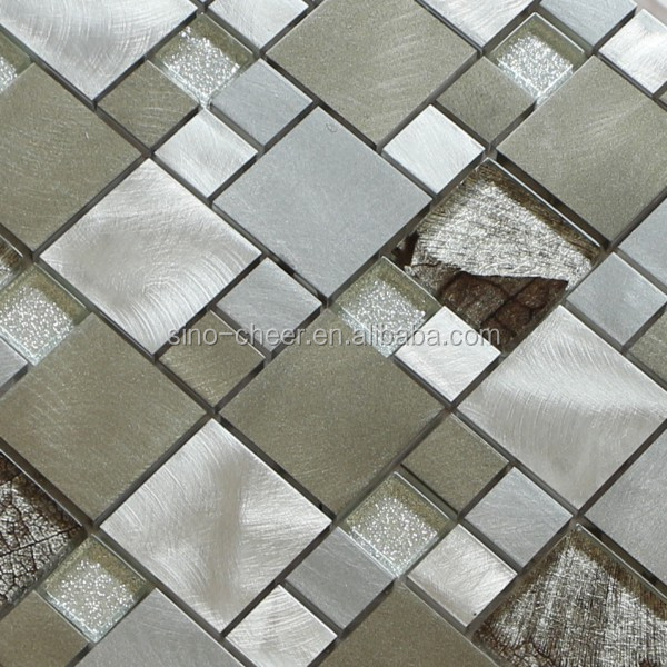 Liga de alumínio com acabamento escovado mosaico para cozinha e ...