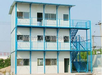low cost light steel prefab flat pack container house for sale