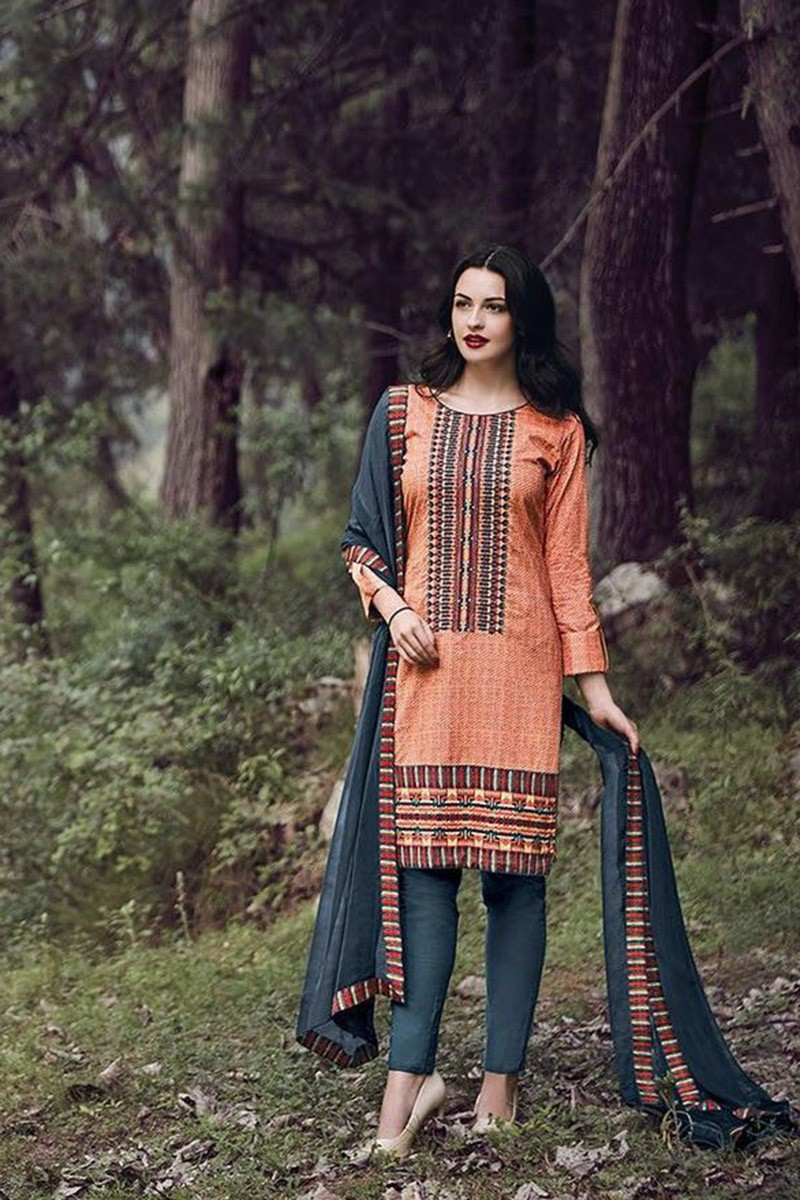 e41448540a Latest Neck Design Cotton Salwar Kameez 2016/Indian Punjabi Casual Suits/Wholesale  Shop For