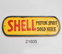 CAST ALUMINIUM MOTOR SPIRIT SOLD HERE DOOR WALL SIGN PLAQUE/ WALL DECORATION