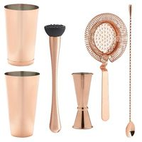 4 Piece Copper Stainless Steel Accessories Set, stainless steel bar set