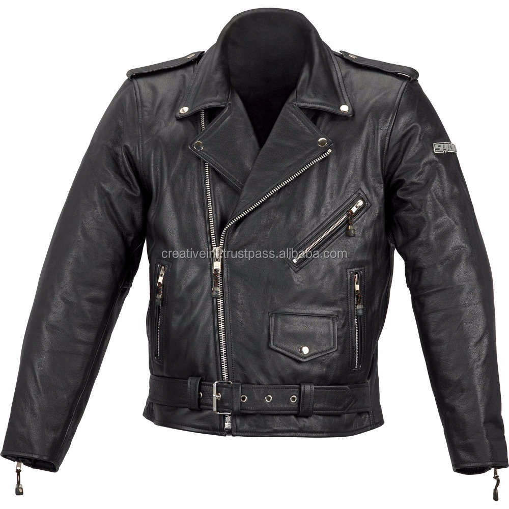 2016 MENS SLIMFIT BIKER GENUINE LEATHER JACKET BROWN COLOUR