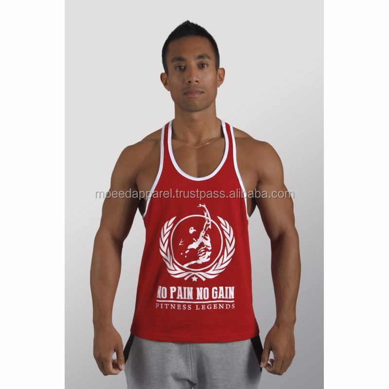 32dc2c880f22b Men s gym sports vest slim fit stringer tank tops low cut custom wrestling  singlet