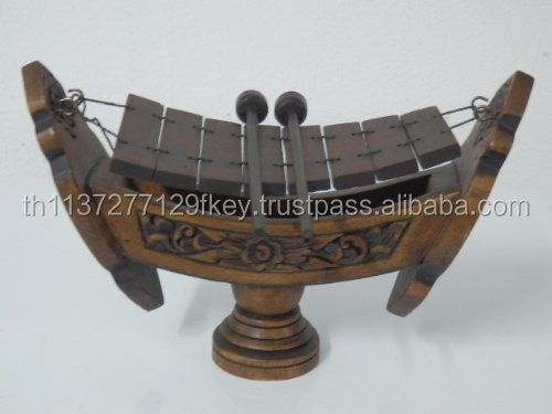 Thai Traditional Musical Instruments Teakwood Teak Wood Wooden Xylophone 8 Bar Notes