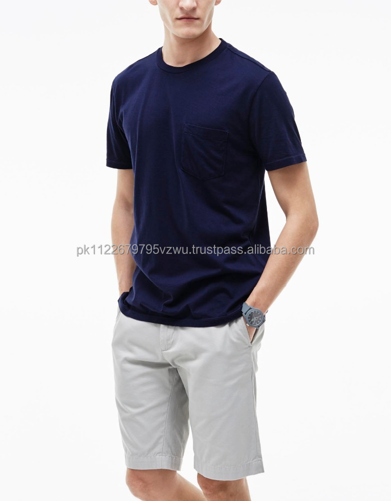 Big Clearing sale custom plain casual t shirt for men in navy color, cheap wholesale