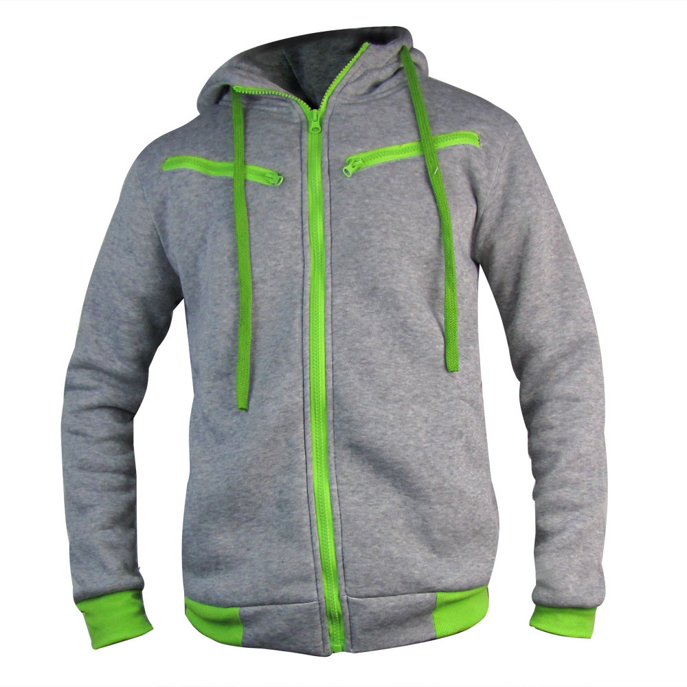 100% Cotton men's hoodies - Top Quality Fashionable Full Zip Up Hoodies - Available at XXXL size