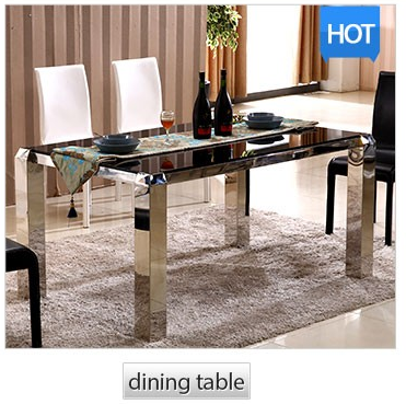 French stability cheap stainless steel dining table and chair