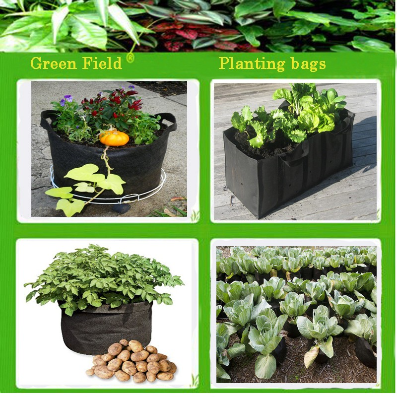 Fabric Smart Pot Plant Pouch Root Grow Bag Felt Flower Pot