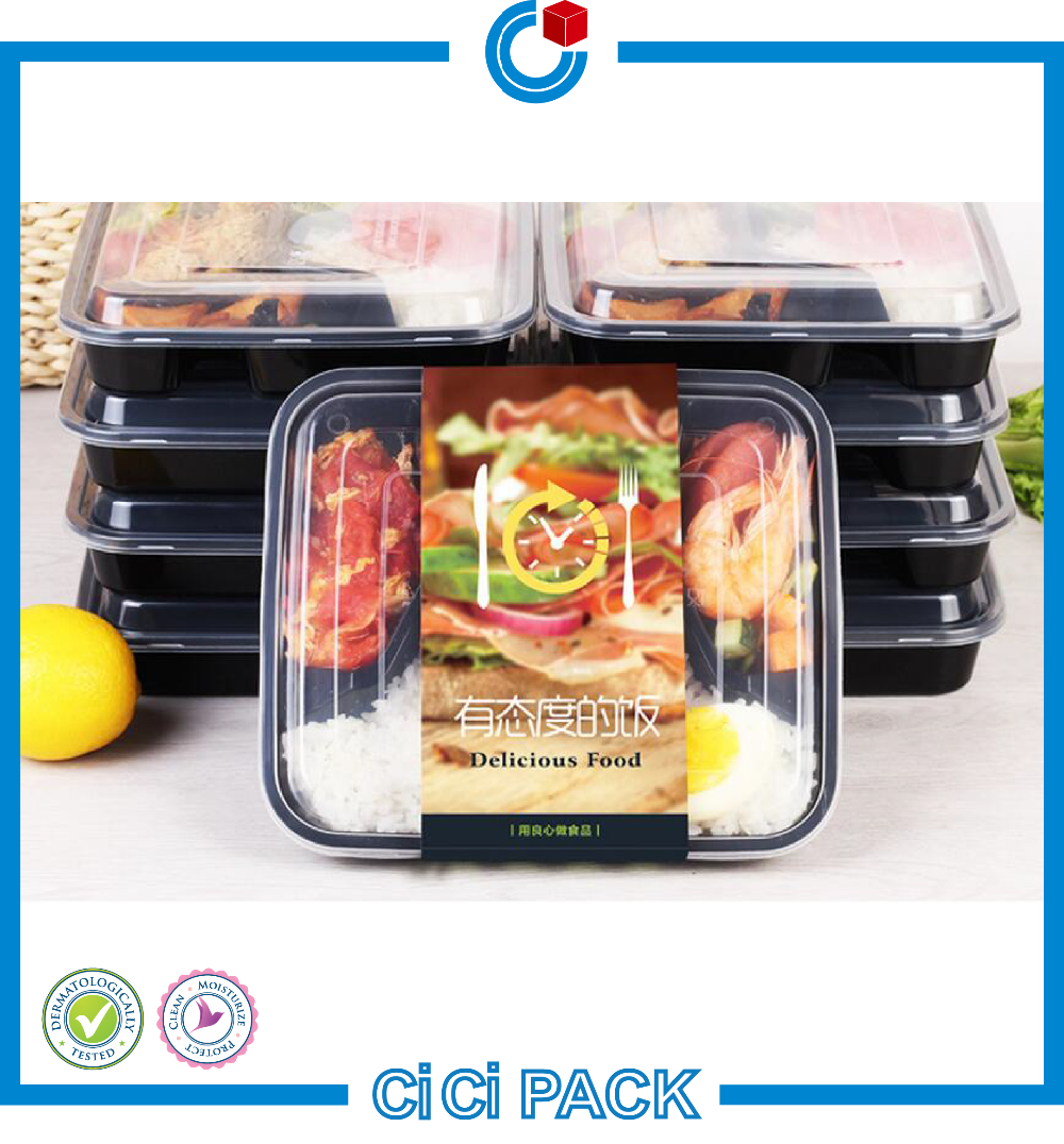 750ml plastic disposable bento lunch box meal prep picnic food storage container tableware with. Black Bedroom Furniture Sets. Home Design Ideas
