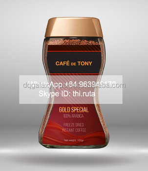 Cafe De Tony - Freeze-dried French Style Instant Coffee - 100 ...