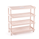 PLASTIC SHOE RACK/ FOLDABLE PLASTIC SHELF/FOLDING GRAND SHOES SHELF 4 STAGES - DUY TAN PLASTICS CORP.