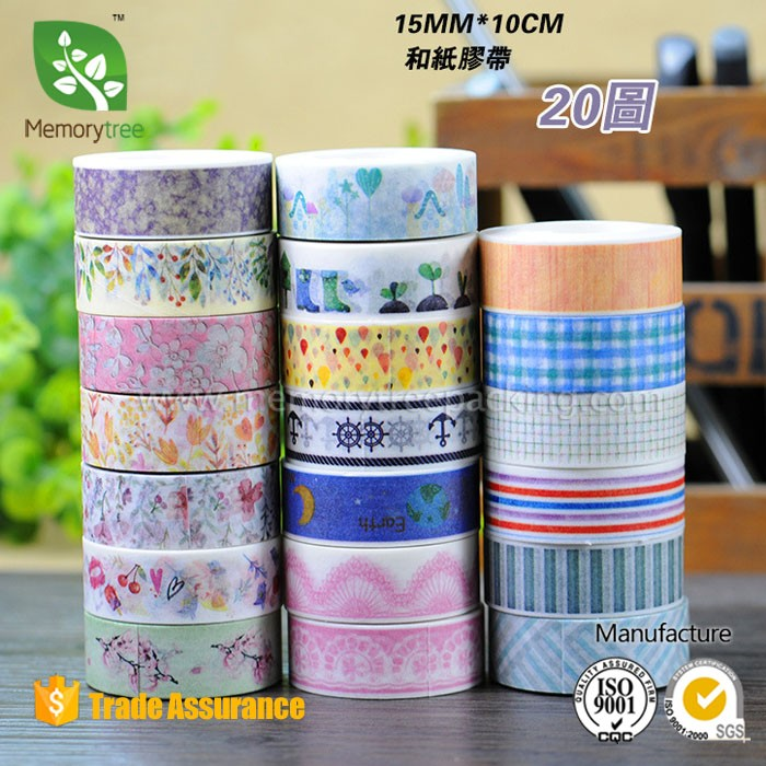 Colorful Customized Printed Washy Tape Wholesale