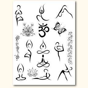 Yoga Designs Stencil Transfer Pack Buy Henna Stencil Yoga Product