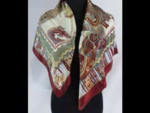 retro bohemian paisley satin scarf Cheap Head Scarves wholesalesarong.com