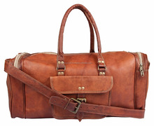 Handmade Mens Travel Bag Genuine Leather Duffel Weekender Luggage Carry On Weekend Bag Overnight Bag
