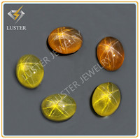 Cabochon Oval 10*12MM Synthetic Yellow Star Sapphire