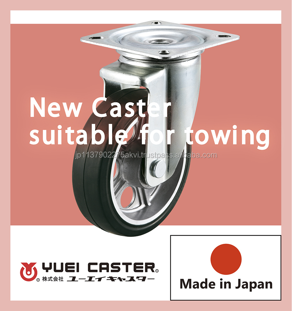High quality and Easy to move work bench caster rubber wheels with multiple functions made in Japan