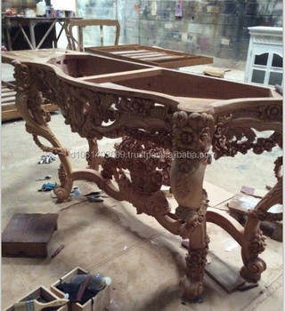 Hand Carving Wooden Console,french Style Console Table,wood Carving Console, Western Style