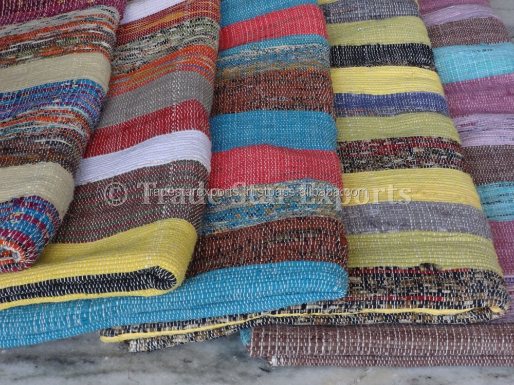 Handloom Art Indian Handmade Rugs Carpets Floor Carpet Vintage Chindi Rag  Rug