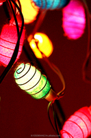 Colorful Cocoon string lights for decoration Thai handmade.