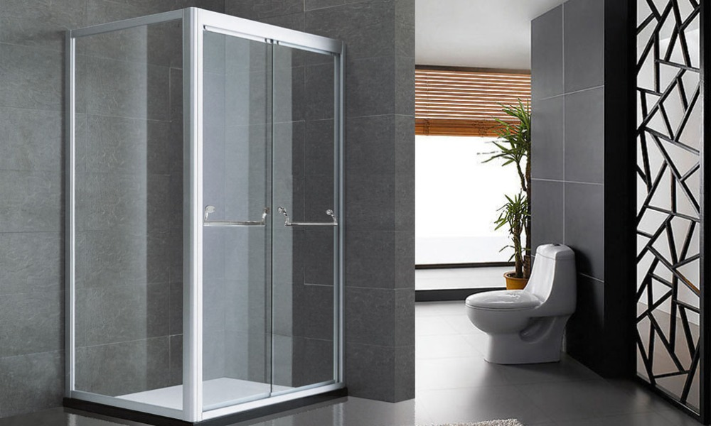 Framed Sliding Shower Doors custom clear glass sliding shower doors commerical shower doors