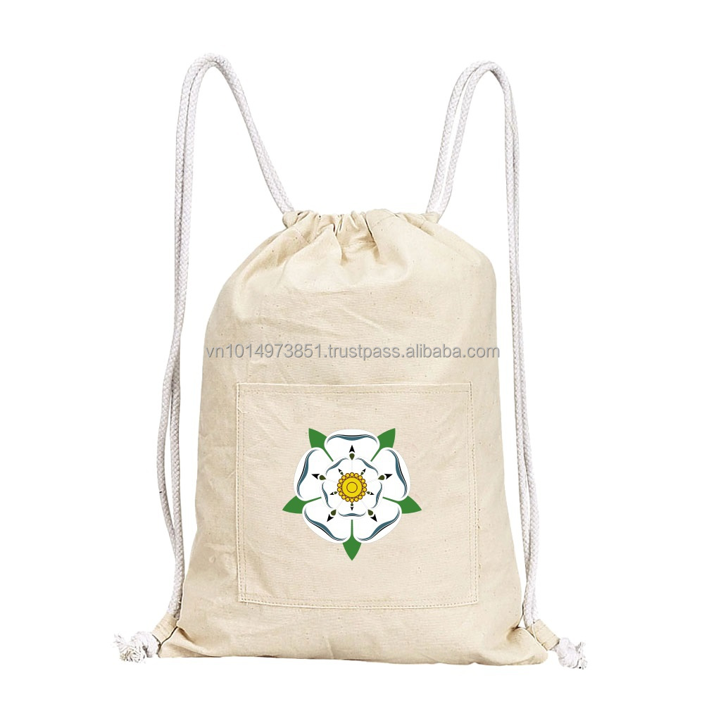 Wholesale Organic Customized Cotton Drawstring Bags 2015