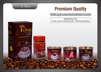 100 % Pure Agglomerated Instant Coffee Powder