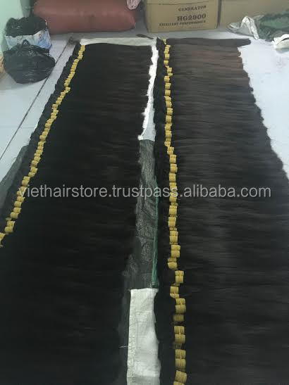 100% unprocessed high quality bulk straight hair