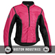 Womens Pink Black Mesh Jacket Breathable Lightweight Cordura Jacket YKK Zippered Waterproof Jacket