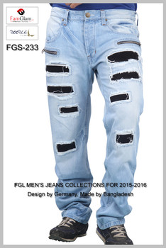Rock Style Jeans Pant For Men-men Jeans Pants