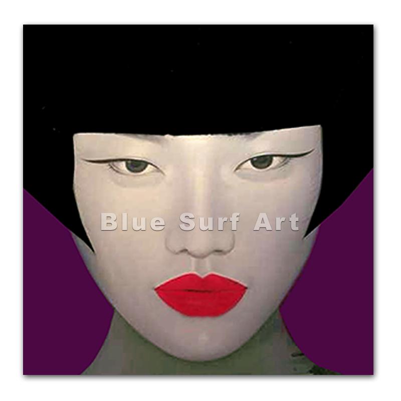 Asiatique visage de femme peinture l 39 huile sur toile autres d cors maison id de produit - Peinture sur visage ...
