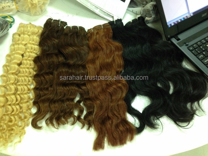 Wholesale Raw Virgin Hair From Vietnam Double Drawn Wavy Hair