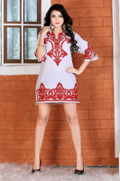 Cotton Coding Embroidery dress for beach wear/ Causal wear/ Party Wear