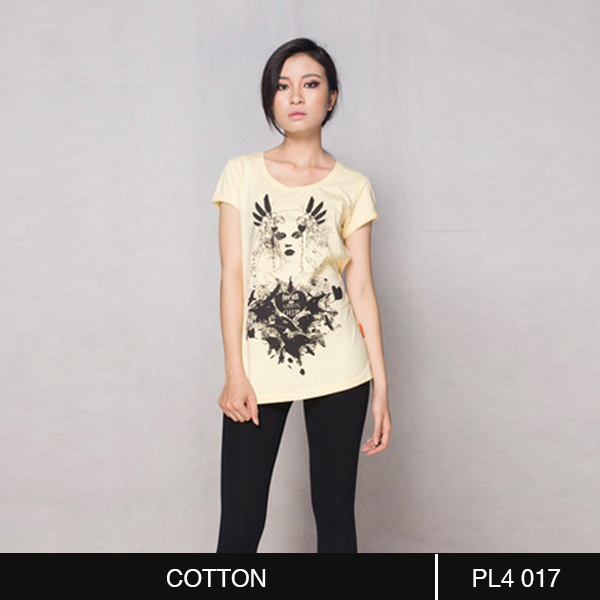 Wings Yellow Round Neck Tee