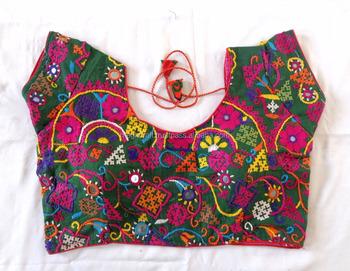 Vintage Rabari Mirror Work Kutch Embroidered Blouses Navratri Wear