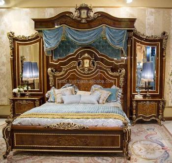 Extra King Size Bedteak Wood King Size Bedscarved Solid Wood King