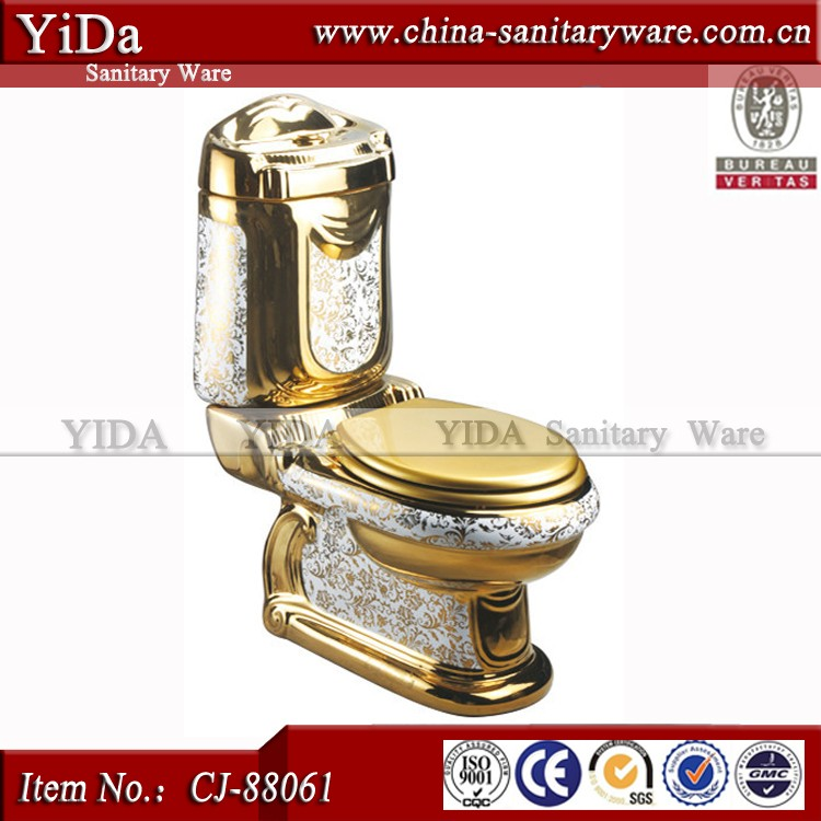 Bathroom accessories ceramic toilet seat golden color toilet dubai hotel toilet bowl buy dubai - Bathroom accessories dubai ...