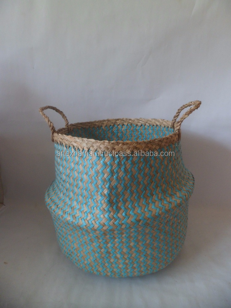Vietnam best selling seagrass rice basket / Popup Basket / seagrass foldable basket / seagrass baskets wholesale Artex Nam An